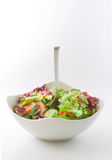 Salad Bowl and a Fork Royalty Free Stock Photo