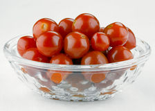 The salad bowl with marinated tomatoes Stock Photos