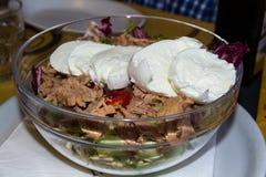 Salad bowl with Tuna and Mozzarella Royalty Free Stock Photography