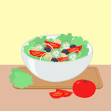 Salad bowl vector illustration Stock Photography