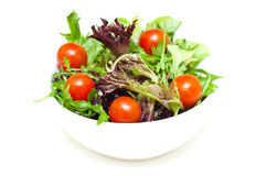 Salad in a bowl on white Royalty Free Stock Photo