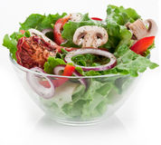 Salad on the bowl on a white. Royalty Free Stock Photos