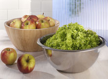 Salad bowls Royalty Free Stock Images