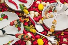 Salad Bowls Royalty Free Stock Image