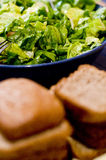 Salad and bread Stock Images