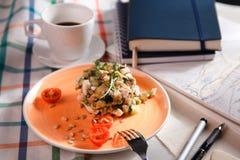Salad for breakfast Stock Photo
