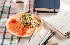 Salad for breakfast Stock Photography