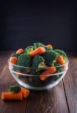 Salad of broccoli and carrots Stock Image