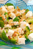 Salad with broccoli,feta and almonds Stock Images