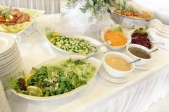 Salad buffet Stock Photos