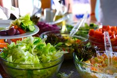 Salad buffet. Stock Photography