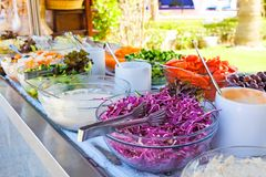 Salad buffet. Royalty Free Stock Images