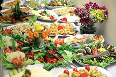 Salad buffet stock image