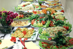 Salad buffet stock images