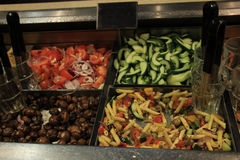 Salad buffet at restaurant Stock Photography