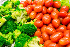 Salad buffet in a restaurant Stock Photo