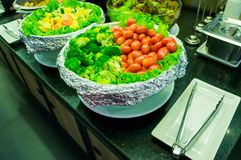 Salad buffet in a restaurant Royalty Free Stock Photo