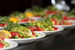 Salad buffet With various vegetables Royalty Free Stock Photography