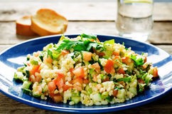 Salad with bulgur and vegetables, Tabbouleh Royalty Free Stock Photography