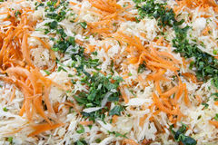 Salad with cabbage and carrot Royalty Free Stock Photo