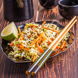 Salad with cabbage and carrots Stock Photography
