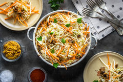 Salad with cabbage, carrots and seeds Stock Image