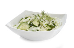 Salad with cabbage and cucumbers Royalty Free Stock Image