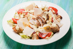 Salad Caesar in a plate Royalty Free Stock Image