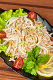 Salad with calamary. And fresh vegetable Royalty Free Stock Photos