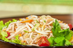 Salad with calamary. And fresh vegetable Stock Photography