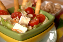Salad with cannellini beans Stock Image