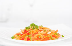 Salad from carrot Royalty Free Stock Images