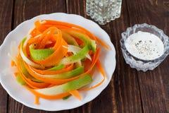 Salad of carrot and radish. Vegetarian salad of carrot and radish Royalty Free Stock Photography