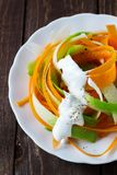 Salad of carrot and radish Stock Image