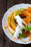 Salad of carrot and radish. Vegetarian salad of carrot and radish Stock Image