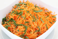 Salad from carrot Royalty Free Stock Photos