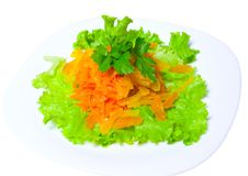 Salad of carrots Stock Photography
