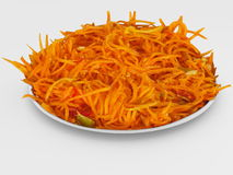 The salad of a carrots. Royalty Free Stock Photo