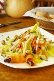 Salad with carrots, apples, dates and hazelnuts Stock Images