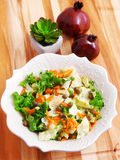Salad with carrots, arugula and capers Royalty Free Stock Photography