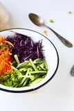 Salad with carrots and cucumbers Royalty Free Stock Photo