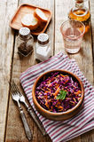 Salad with carrots and red cabbage Stock Photo