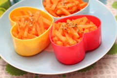 Salad of carrots Stock Photos