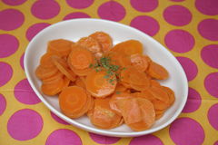 Salad of carrots Royalty Free Stock Photos