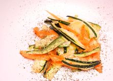 Salad of carrots and zucchini Stock Images