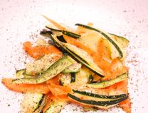 Salad of carrots and zucchini Royalty Free Stock Images