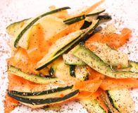 Salad of carrots and zucchini Stock Image