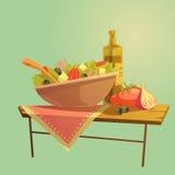 Salad Cartoon Concept Royalty Free Stock Photos