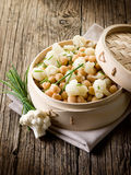 Salad with cauliflower Royalty Free Stock Images