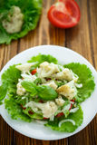 Salad with cauliflower, tomatoes and herbs Royalty Free Stock Photography